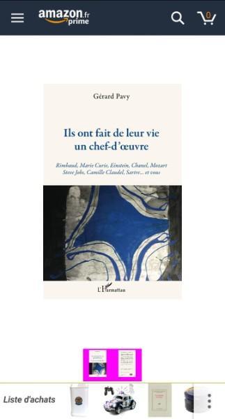 Mon nouveau livre vient de paraître: Ils ont fait de leur vie un chef-d'oeuvre